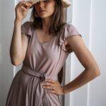 Sukienka CHWILA z wiskozy EcoVero – pudrowy róż