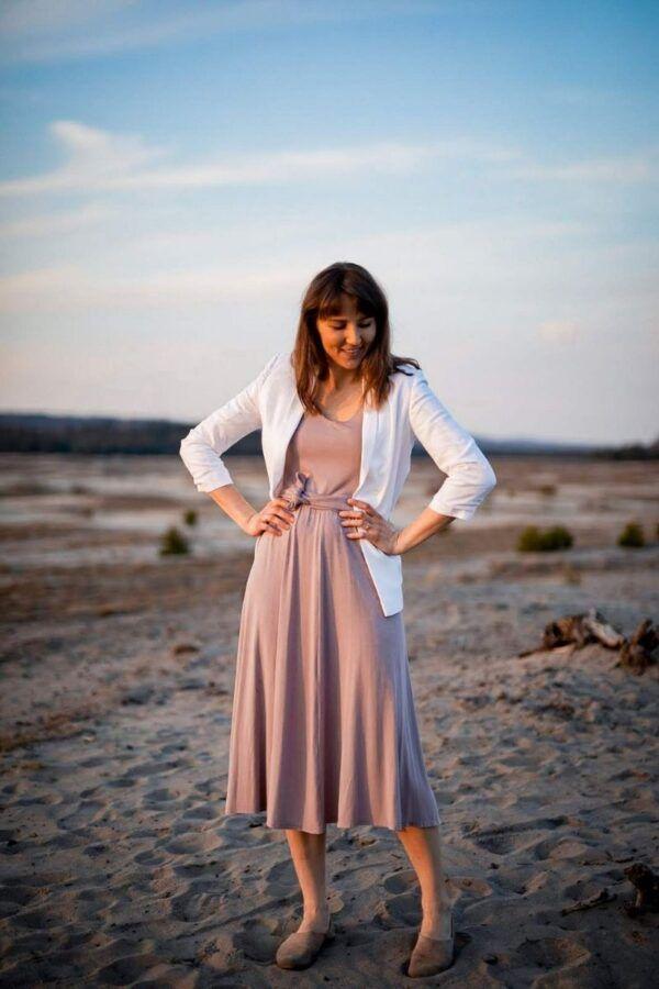 sukienka z wiskozy ecovero