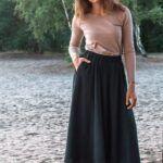 Spódnica z półkoła Rok we Francji